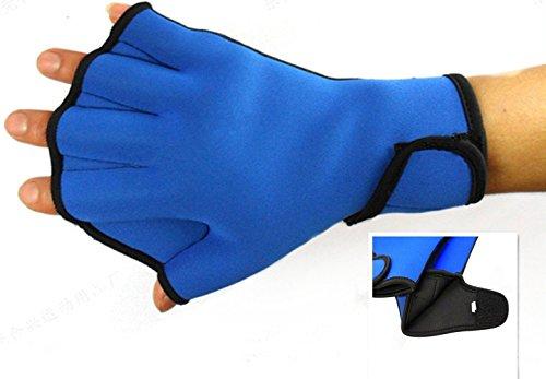 Dooki-Resistente-al-Agua-Guantes-de-Neopreno-Guantes-palmeados-Piscina-Aqua-Fit-Entrenamiento-Ejercicio-Aletas-de-natacin-Paleta-Azul-0