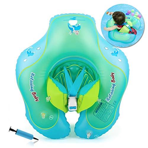 HONGCI-Flotador-de-Natacin-para-Bebs-con-Asiento-AnilloBeb-Recin-Nacido-Aprende-a-Nadar-Entrenador-Inflable-Flotador-Ajustable-para-Piscinas-para-BebsAnillo-de-Natacin-para-Bebs-0