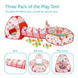 MAIKEHIGH-InteriorExterior-tnel-del-Juego-y-la-Tienda-del-Juego-de-Cubby-de-Tubo-Tipi-3-en-1-Zona-de-Juegos-Infantil-para-bebs-Juguetes-para-nios-Bolas-NO-Incluido-0-1