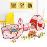 MAIKEHIGH-InteriorExterior-tnel-del-Juego-y-la-Tienda-del-Juego-de-Cubby-de-Tubo-Tipi-3-en-1-Zona-de-Juegos-Infantil-para-bebs-Juguetes-para-nios-Bolas-NO-Incluido-0
