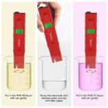 Medidor-ph-agua-precisoPreciva-medidor-ph-digital-profesional-con-Pantalla-LCD-Retroiluminada4-Batera-Incluida-y-con-4-paquetes-de-Polvos-de-Calibracin-para-Neutralizar-el-lquidoRojo-0-3
