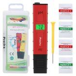 Medidor-ph-agua-precisoPreciva-medidor-ph-digital-profesional-con-Pantalla-LCD-Retroiluminada4-Batera-Incluida-y-con-4-paquetes-de-Polvos-de-Calibracin-para-Neutralizar-el-lquidoRojo-0-5