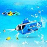 Mini-Barco-de-Radiocontrol-Barco-Teledirigido-Sumergible-a-Prueba-de-Agua-Submarino-Modelo-de-Juguete-de-bao-para-baera-Piscinas-Lagos-0-0