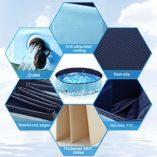 POPOLIC-Piscina-para-Perro-Plegable-Piscina-Extra-Grande-NiosMascotas-Perros-PVC-Antideslizante-y-Resistente-Drenaje-Lateral-en-Espiral-160-x-30-cm120-x-30-cm-Azul-Claro-Azul-Oscuro-0-5