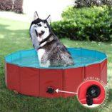 Premium-Piscina-para-Mascotas-Plegable-80x30CM-Multifuncional-Porttil-PVC-Antideslizante-Baera-para-Perros-Perrito-Gatos-o-como-Piscina-para-Nios-Piscina-de-Bolas-0-1
