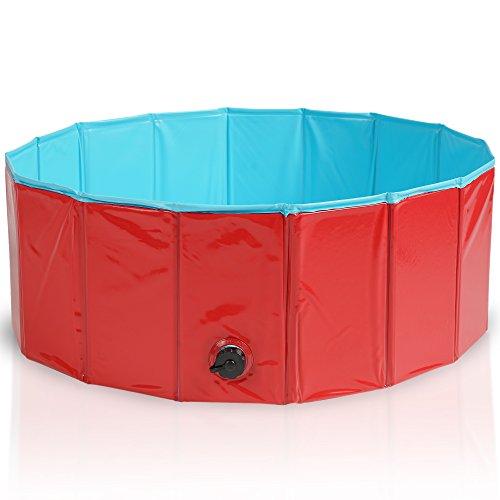 Premium-Piscina-para-Mascotas-Plegable-80x30CM-Multifuncional-Porttil-PVC-Antideslizante-Baera-para-Perros-Perrito-Gatos-o-como-Piscina-para-Nios-Piscina-de-Bolas-0