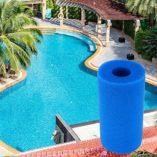 SmartHitech-Filter-Sponge-Filtro-de-Piscina-para-la-Herramienta-limpiadora-de-Filtro-Reutilizable-Lavable-Intex-Tipo-A-Esponja-de-Cartucho-de-Espuma-1p-Azul-Cielo-0-6
