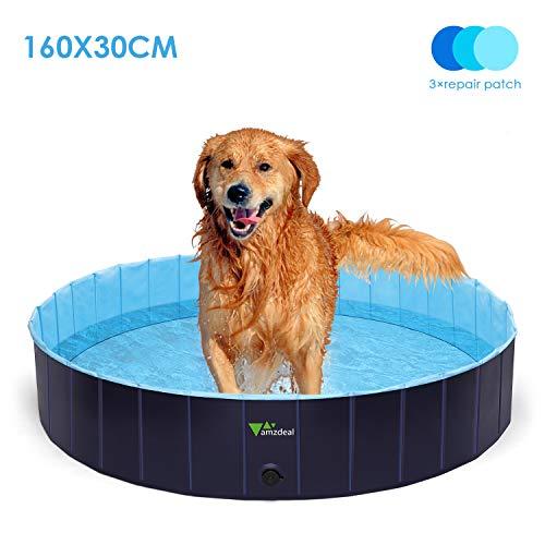 amzdeal-600L-Piscina-para-Perros-Baera-Plegable-para-Mascotas-Piscina-Grande-Resistente-y-Estable-PVC-Antideslizante-Mltiples-Usos-para-Mascotas-y-Nios-16030cm-0