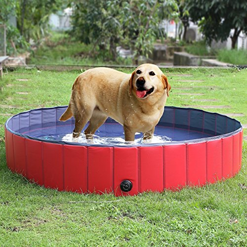 femor-Baera-Bao-de-Mascota-Perros-Gatos-Animales-Paddling-Piscina-de-Bao-Ducha-de-Bao-Plegable-Porttil-Puppy-Color-Rojo-Negro-0